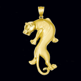 Gorgeous Gold Panther Pendant