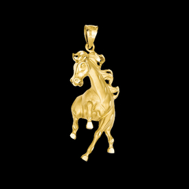 Animal Charms Spirited Horse Pendant