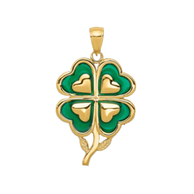 Other Gold Pendants 14k Gold Clover Pendant