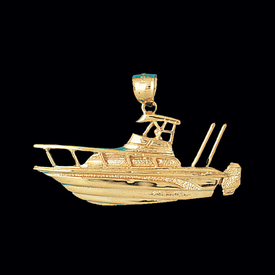 Gold Fishing Boat Pendant