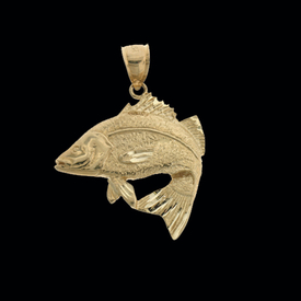 Nautical Gold Charms Fancy Gold Fish Pendant