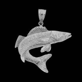 Big 14k Gold Fish Pendant