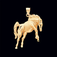 Animal Charms Gold Horse Pendant