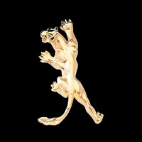 Animal Charms Fierce Gold Pendant Slide