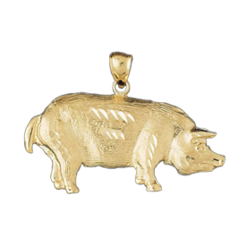 Animal Charms Big Gold Pig