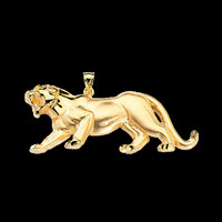 Animal Charms Bold Gold Panther Pendant