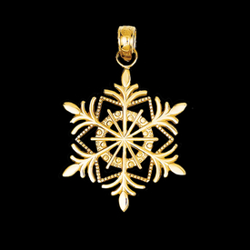 Other Gold Pendants Snowflake Charm Pendant