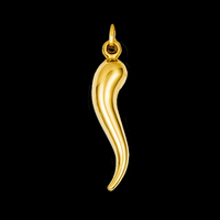 Other Gold Pendants Hollow Italian Horn Charm Pendant