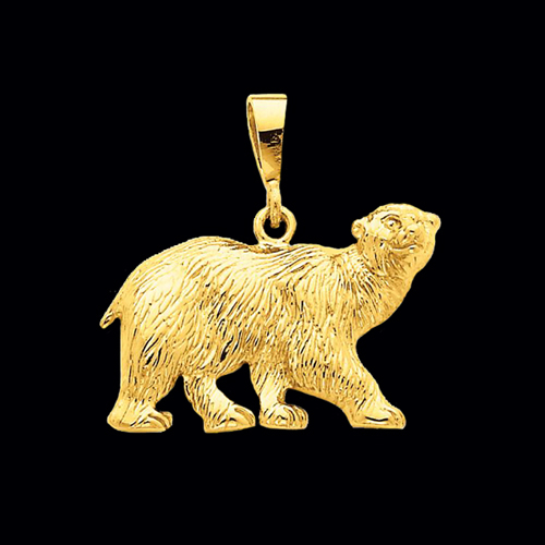 Gold Polar Bear Pendant