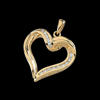 Lovely Diamond Heart Pendant