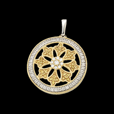 Fancy Diamond Circle Pendant