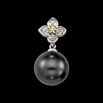 Beautiful Tahitian Pearl & Diamond Pendant