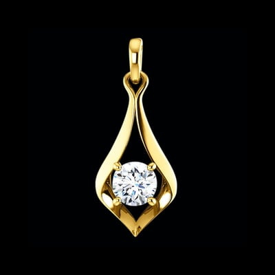 Elegant Diamond Drop Pendant
