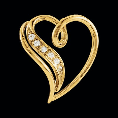 Diamond Accented Heart Pendant