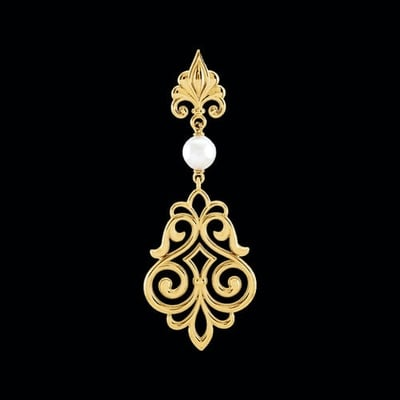 Decorative Dangle Pearl Pendant