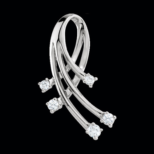 Platinum Diamond Accent Pendant