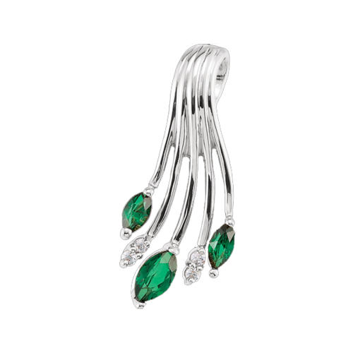 Enchanting Platinum Emerald Pendant
