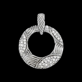Platinum Stylish Circle Pendant