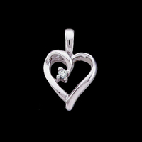 Gold Diamond Heart Pendant