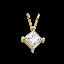 Diamond Pendants Princess Cut Diamond Pendant