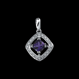 Gemstone Pendants White Gold Amethyst Pendant