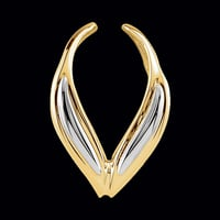 14kt Gold Two Tone Pendant Enhancer