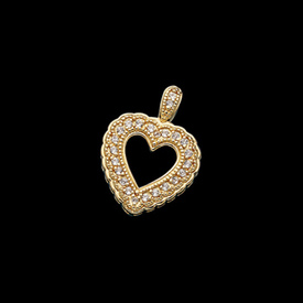 Diamond Pendants Victorian Diamond Heart Pendant