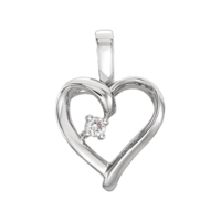 Diamond Pendants Gold Diamond Heart Pendant