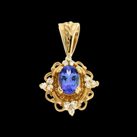 Gemstone Pendants Gold Tanzanite Pendant