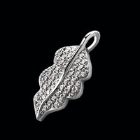 Gold & Diamond Leaf Pendant