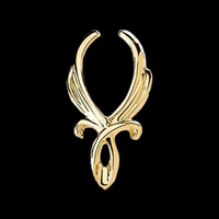 Twisted Cradle Gold Pendant Enhancer