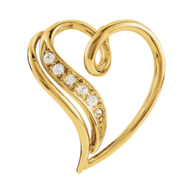 Diamond Pendants Diamond Accented Heart Pendant