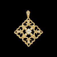 Diamond Floral Large Pendant