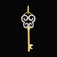 Diamond Gold Key Pendant