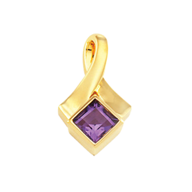 Gemstone Pendants Princess Amethyst Pendant