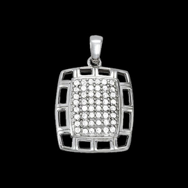 Stylish Platinum Diamond Pendant
