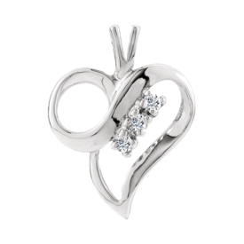 Platinum Pendants Platinum Diamond Accent Heart