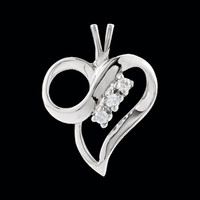 Platinum Diamond Accent Heart