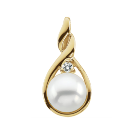 Gentle Twist Pearl Pendant