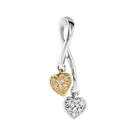 Diamond Pendants Diamond Dangle Hearts Pendant