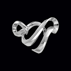 Flowing Ribbon Platinum Slide