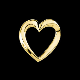 Gold Chain Slide Heart Omega Slide
