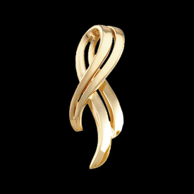Gold Chain Slide Overlapping Ribbon Omega Slide