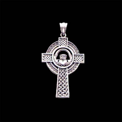 Celtic Claddagh Cross Pendant