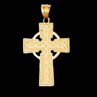 Yellow Gold Irish Cross Pendant