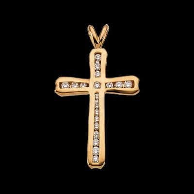 Channel Set Diamond Cross