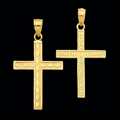 14k Gold Reversible Cross