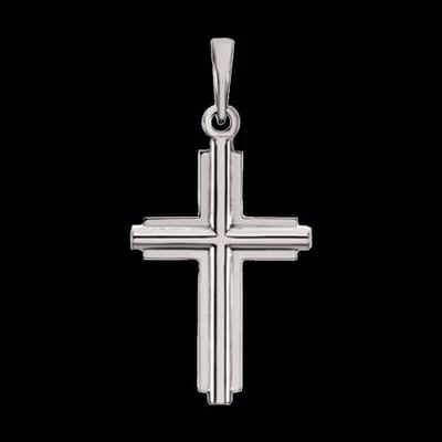 Traditional 14kt Gold Cross Pendant