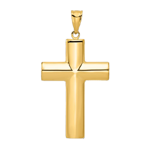Large Hollow Cross Pendant