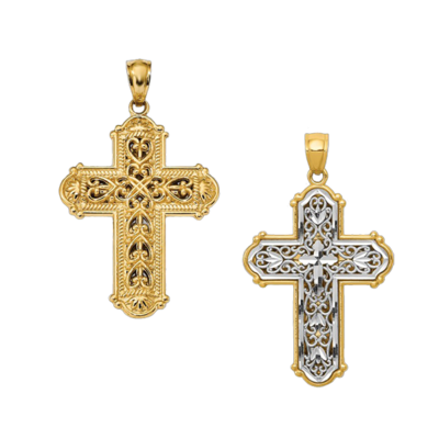 Two Tone Reversible Cross